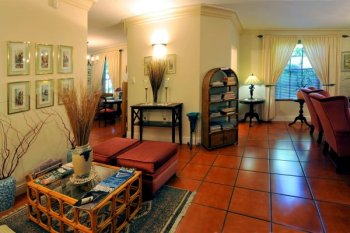 Lounge at Gable Manor Guesthouse accommodation Franschhoek luxury bed & breakfast accommodation Winelands Cape Town